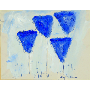 Quatre Arbres Bleus Ils Chantent Tot le Matin